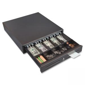 FireKing CD1317 Standard Steel Cash Drawer - 5 Bill - 8 Coin - 2 Media Slot - USB, Printer Driven - Plastic, Steel - Silver, Bla