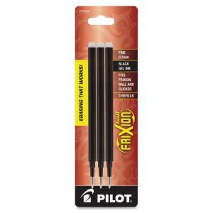 Pilot FriXion Erasable Ball Pen Ink Refills - 0.70 mm - Fine Point - Black - 3 / Pack