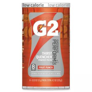 Gatorade G2 Single Serve Powder - Fruit Punch - 0.52 fl oz - Powder - 8/Pack