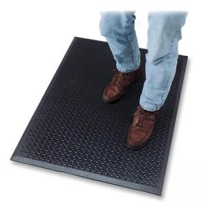 "Genuine Joe Flex Step Anti-Fatigue Mat - Black 60"" Length x 36"" Width"