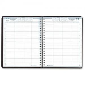 House of Doolittle 8-Person Daily Appointment Book - Black Cover