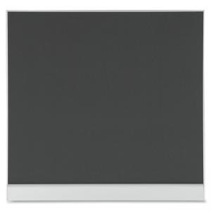 "Iceberg Polarity Mesh Bulletin Board - 48"" Height x 46\"" Width - Gray Fabric Surface - Aluminum Frame"