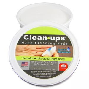"LEE Clean-Ups Pre-moistened Hand Cleaning Pads - 2 Ply - Mild Floral Scent - 60 / Tub - 3"" Roll Diameter - White"