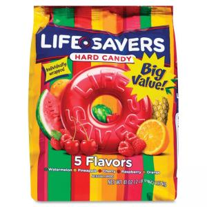 Flavia Life Savers 5 Flavors Hard Candies - Cherry, Raspberry, Watermelon, Orange, Pineapple - Individually Wrapped - 2.56 lb -
