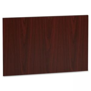 "Lorell Accent Series Mahogany Laminate Modesty Panel - 29.5"" Width x 19.6\"" Depth750 mil ThicknessMDF, Metal, Laminate - Mahoga"