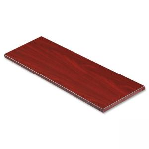 "Lorell Border Panel System - 36"" Width x 1\"" Depth x 12\"" Height - Particleboard, Melamine - Mahogany"