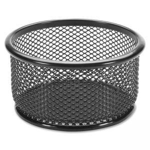 "Lorell Mesh Paper Clip Holder - 3.8"" x 3.9"" - Steel - 1 Each - Black"