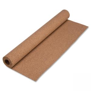 "Lorell Natural Cork Rolls - 48"" Height x 24"" Width - Brown Cork Surface"