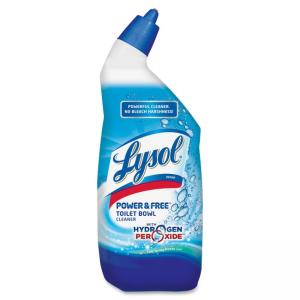 Airwick Lysol Power & Free Toilet Cleaner - Liquid Solution - 24 oz (1.50 lb) - Fresh Clean, Spring Breeze Scent - White, Blue