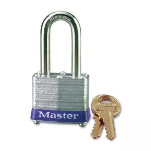 Master Lock Long Shackle Padlock - Keyed Different - Steel Shackle - Steel Gray