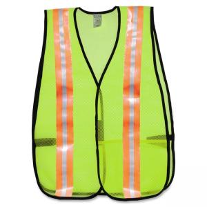 MCR Safety Occunomix General Purpose Safety Vest - Mesh - 1 Each - Lime