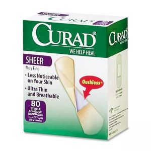 "Medline CURAD Sheer Bandage Clear 80 / Box 0.75"" Width x 3"" Length"