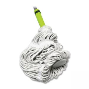 LC Industries Miller\s Creek Cotton Twist Mop - Sponge Head - Looped Ends, Ergonomic Handle, Lightweight - 1 Each - Blue
