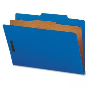 "Nature Saver Cleared Top-tab 1-Divider Classification Folder - Legal - 8.50"" x 14\"" - 2/5 Tab Cut on Right of Center - 1 Divide"