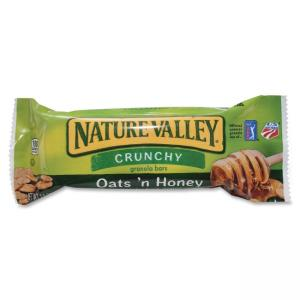 NATURE VALLEY Oats \N Honey Granola Bars - Crunch, Honey Touched Oat - 1.50 oz - 18 / Box
