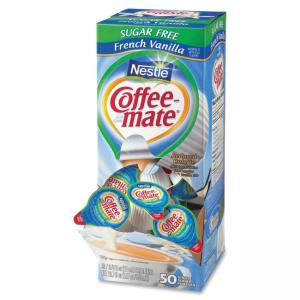 Nestle French Vanilla Liquid Creamer - French Vanilla Flavor - 0.38 fl oz - 50/Box