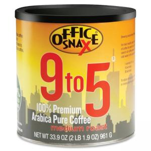 Office Snax 9 to 5 Regular Coffee - Regular - Pure Arabica - Medium - 1 Each