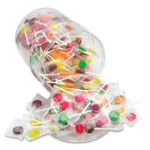 Office Snax Sugar Free Assorted Lollipops Tub - Cherry Grape Lemon Lime Orange - Sugar-free Individually Wrapped Reusable