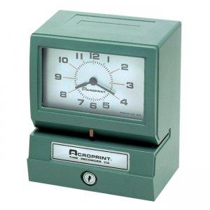 Acroprint Electronic Time Clock and Recorder - 01-2070-411 - Green