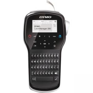 "Rubbermaid Dymo LabelManager 280 Label Maker - Tape, Label - 0.25"", 0.37"", 0.50"" QWERTY, Underline, Auto Power Off"