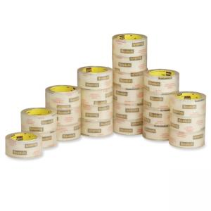 3M Commercial Packaging Clear Tape - 48 / Carton - Clear