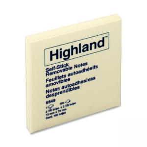 3M Highland Self-Sticking Note Pads 12 / Pack Yellow