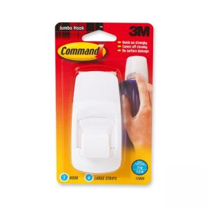 3M Jumbo Hook with Command Adhesive White 1 / Pack