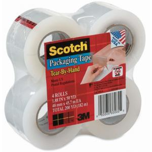3M Scotch Tear-By-Hand Packaging Tape - 1 Pack - Clear