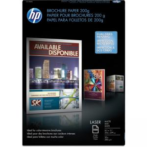 "Compaq/HP Brochure/Flyer Paper - For Laser Print - Letter - 8.50"" x 11"" - 200 g/m2 - Matte, Ultra Smooth - 112 Brightness - 100"