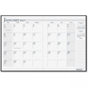 "House of Doolittle 260-02 Economy Planner - Monthly - 8.50"" x 11\"" - 1.2 Year - December till January 1 Month Double Page Layou"