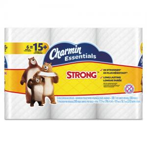 Charmin Strong Big Roll Toilet Paper - 1 Ply - 308 Sheet - 8 Pack - White