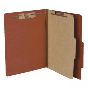 Acco Classification Folder - Earth Red - 10 / Box