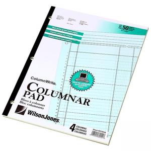 Acco 8-Unit Columns Accounting Pad - 50 Sheets