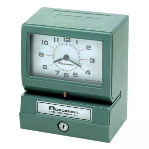 Acroprint Electronic Time Clock and Recorder - 1 Each - Green