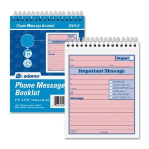 Adams Phone Message Booklet - 1 Each - 50 Sheets