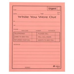 Adams While You Were Out Message Pads - 12 / Pack - 50 Sheets