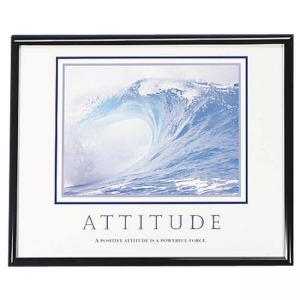 "Advantus Attitude Motivational Poster - 30"" Width x 24"" Height"