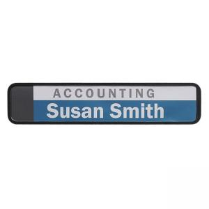 Advantus Do-It-Yourself Wall/Cubicle Sign - Black - 1 Each