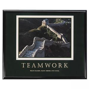 "Advantus Teamwork Motivational Poster - 30"" Width x 24"" Height"