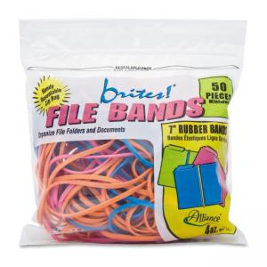 Alliance Rubber Brites Pic-Pac Rubber Bands - Biodegradable