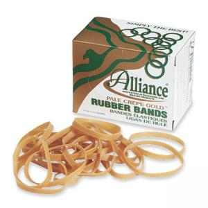 "Alliance Rubber Pale Crepe Gold Rubber Band - 7"" x 0.12"""