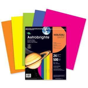 Astro Astrobrights Premium Colored Paper - Cosmic Orange - 500 / Ream