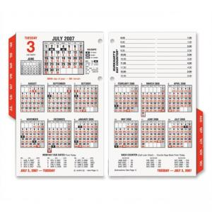 At-A-Glance Burkharts Day Counter Daily Calendar Refill