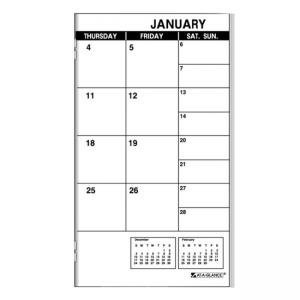 At-A-Glance Dated Monthly Appointment Book Refill - White
