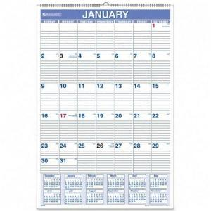 At-A-Glance Ruled Daily Blocks Calendar