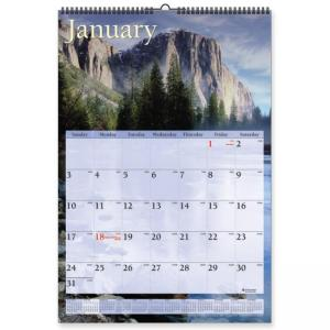 Visual Organizer Scenic Monthly Wall Calendar