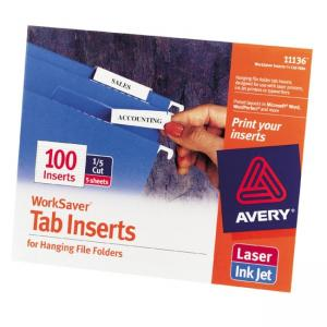Avery WorkSaver Tab Inserts