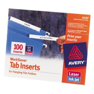 Avery WorkSaver Tab Inserts - 3 Tab/Set