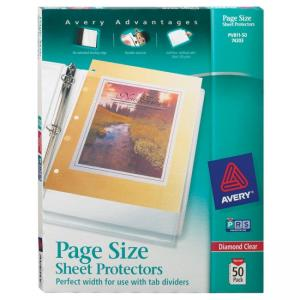 Avery 3 Hole Punched Heavyweight Sheet Protector