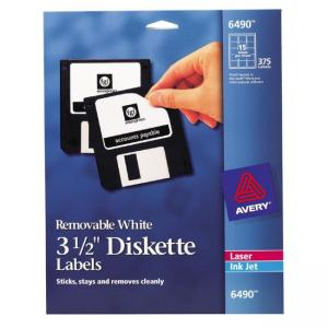 Avery Diskette Labels - 375 / Pack - White